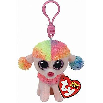 TY Key Clip: Rainbow The Poodle