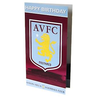 Aston Villa Birthday Card