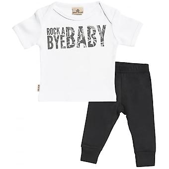 Spoilt Rotten Rock A Bye Baby Baby T-Shirt & Baby Jersey Trousers Outfit Set