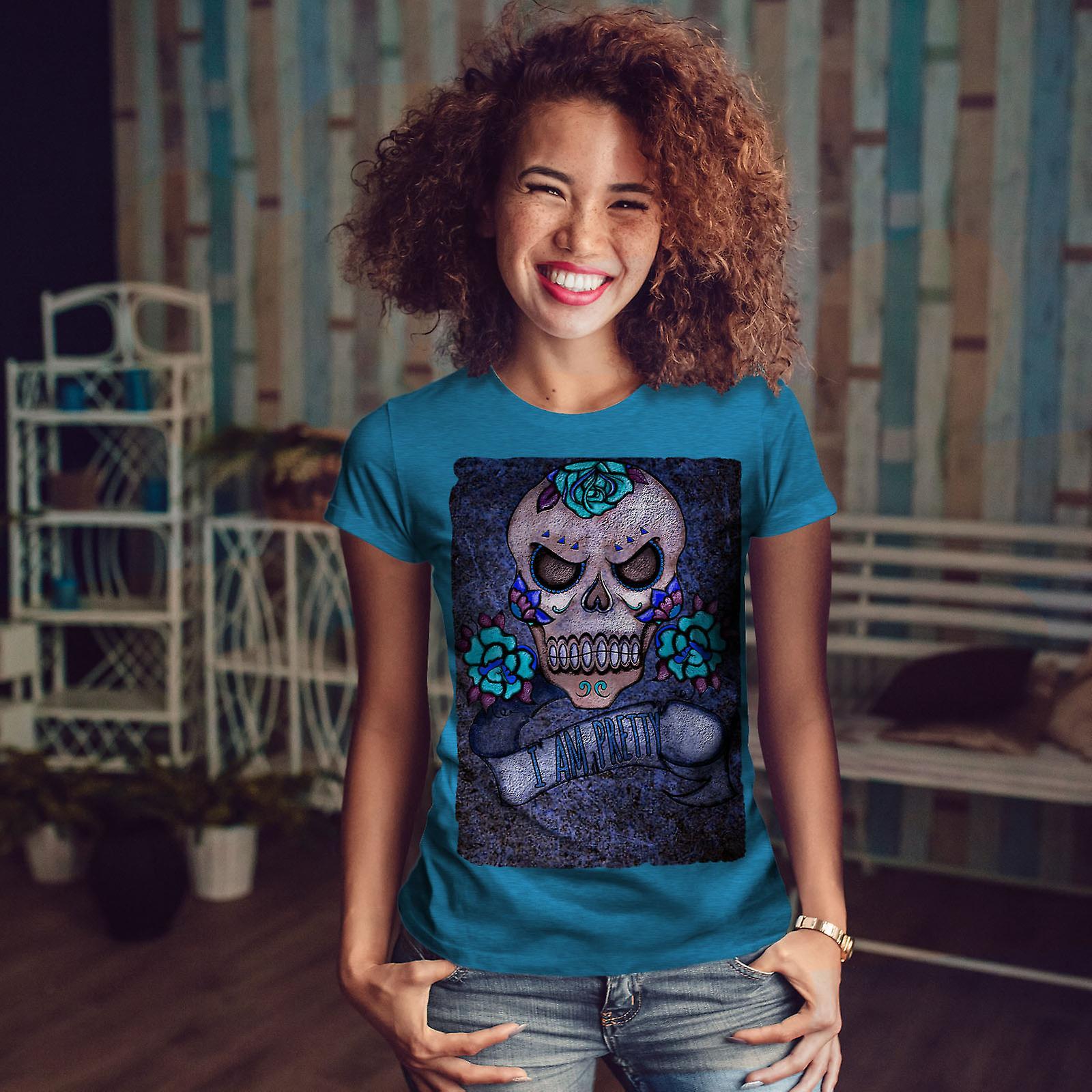 En métal assez mort BlueT-shirt Royal femme | Wellcoda