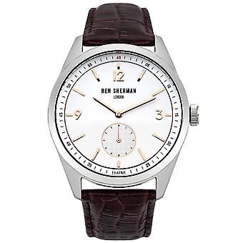 Ben Sherman Mens Gents Wrist Watch Canaby Driver Black Strap Face WB052BGR