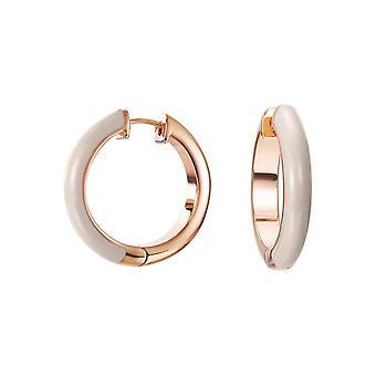 Esprit Damen Ohrringe Creole Edelstahl Rosé Fancy beige ESCO11657I000