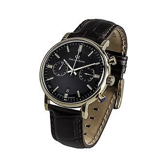 Carl of Zeyten men's watch wristwatch quartz Bühlot CVZ0037GBK