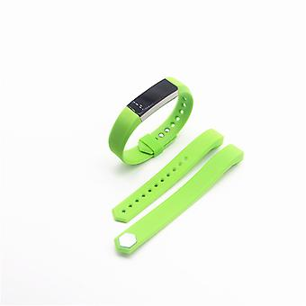 For Fitbit Alta HR plastic / silicone bracelet for women / size S green clock