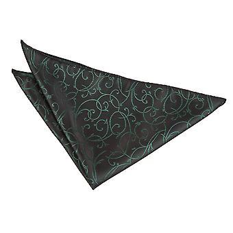 Sort / grøn Swirl Pocket Square