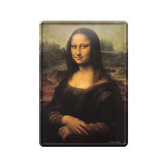 Cartão postal de Mona Lisa de Metal / mini sinal