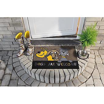 Hundar är välkomna 50 x 75 cm tvättbar golv matta salong lion djurmotiv