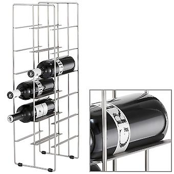 Wine rack steel matt nickel-plated