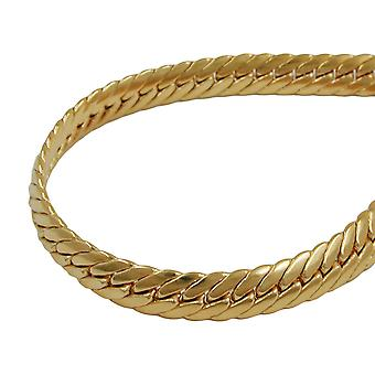 5 mm armoured chain oval pressed AMD gold plated 50cm
