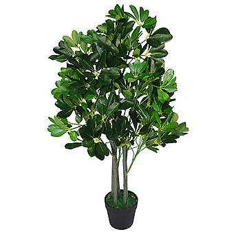 95cm Umbrella Tree dunkel grün künstlicher Ficus Pflanze