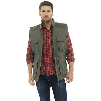 Tom Franks Mens país ropa acolchado chaleco