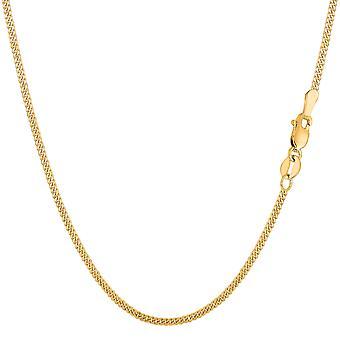 10 ك سلسلة جورميت الذهب الأصفر قلادة، 1.5 مم