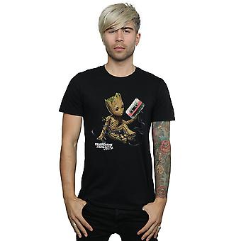 Marvel Men's Guardians Of The Galaxy Groot Tape T-Shirt