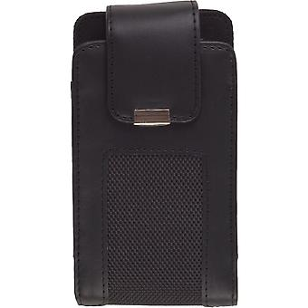 Wireless Solutions Universal Fitted Vertical Downtown Leather Pouch (XXL, Black)