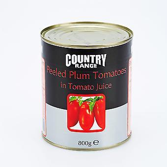 Rango país pela tomates ciruela en jugo de tomate