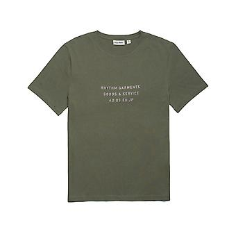 Rhythm Base Short Sleeve T-Shirt in Olive