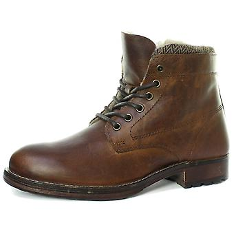 Red Tape Frampton Mens Faux Fur Lined Lace Up Boots