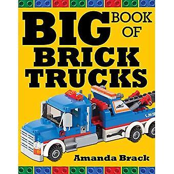 Stora boken av tegel lastbilar