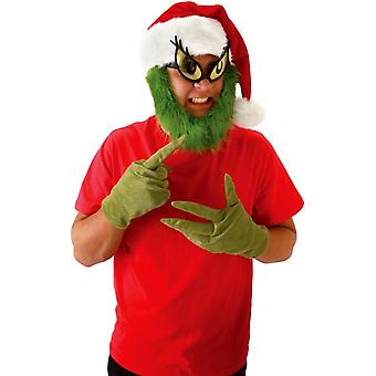 Grinch Hat With Beard For All