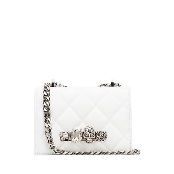Alexander Mcqueen 5585411axby9006 Women's White Leather Shoulder Bag
