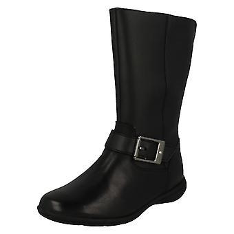 Girls Clarks Knee High Boots Venture Moon