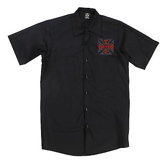 West Coast choppers mens short-sleeved shirt Web cross