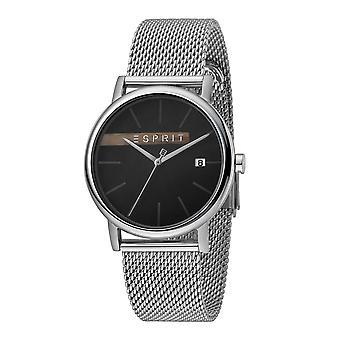 Esprit ES1G047M0055 Timber Black Silver Mesh Men's Watch