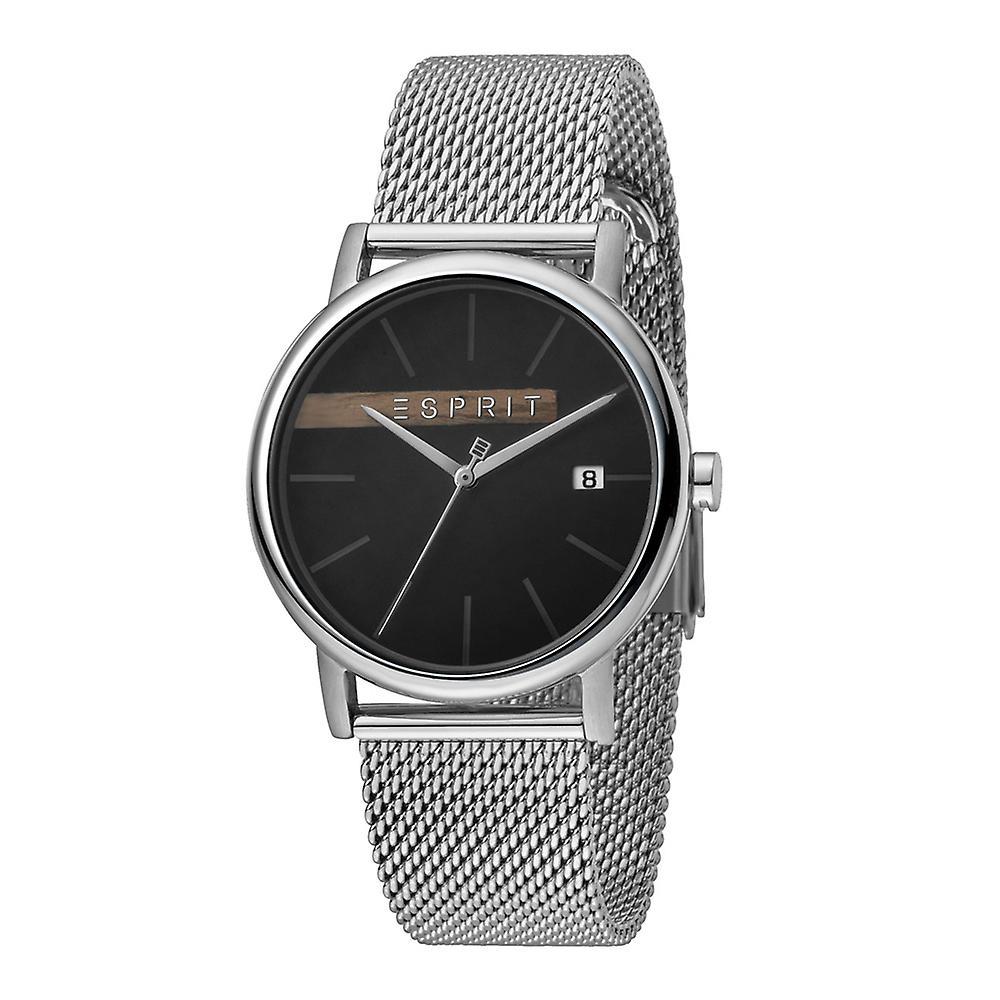 Esprit ES1G047M0055 Timber Black Silver Mesh Herrenuhr