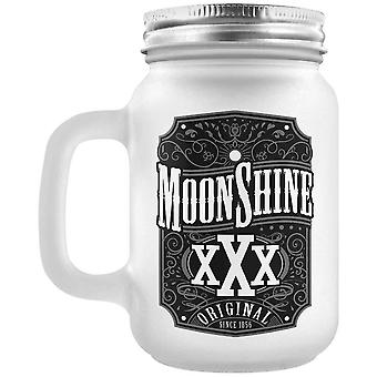 Grindstore Moonshine Frosted Mason Jar Drinking Glass
