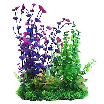 Betta Choice Purple & Green Combi Plastic Plant 33cm