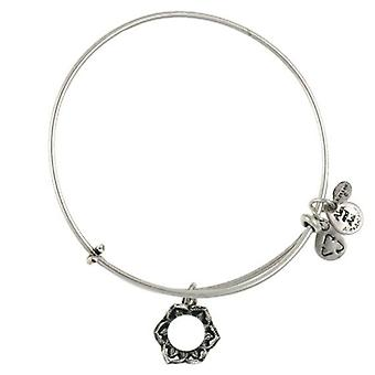 Alex and Ani Queen's Crown Silver Bangle A09EB134RS