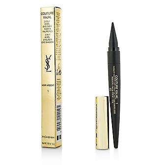 Yves Saint Laurent Couture Kajal 3 In 1 Eye Pencil (khol/eyeliner/eye Shadow) - #1 Noir Ardent - 1.5g/0.05oz