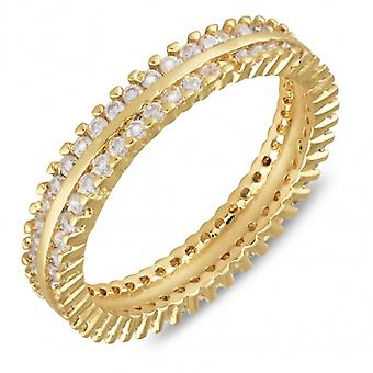 Gold Plated Ring Alliance With Cubic Zirconia