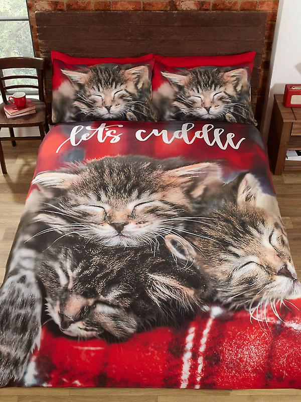 Cuddle Cats Duvet Cover and Pillowcase Set