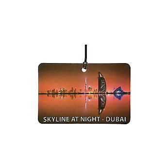 Skyline de nuit - Dubaï Car Air Freshener