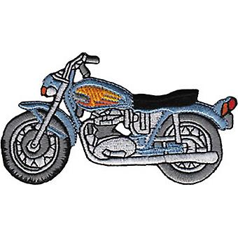 Patch - Automoblies - Blue Street Bike Iron On Gifts New Licensed p-3867