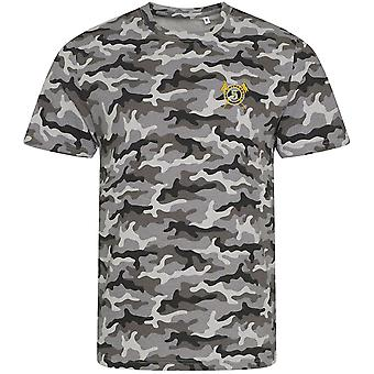 5th Royal Irish Lancers - Licensed British Army Embroidered Camouflage Print T-Shirt