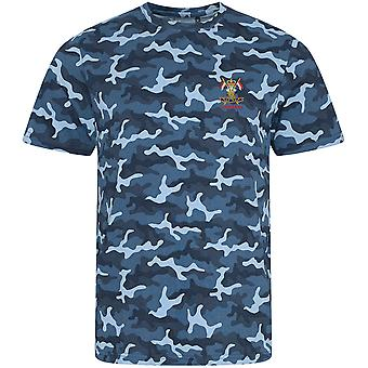 9th 12th Royal Lancers Veteran - Licensed British Army Embroidered Camouflage Print T-Shirt