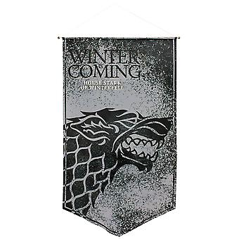 Game of Thrones Stark of Winterfell Satin Banner