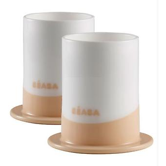 Béaba 2-Cup Lot '' Ellipse '' Nude (Kitchen , Household , Child's)