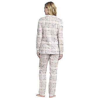 Rosch 1193531-16413 Femmes-apos;s Smart Casual Pink Paisley Check Cotton Pyjama Set