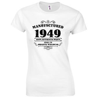 70 års fødselsdag gaver til kvinder hendes fremstillet 1949 T-shirt