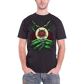 Slayer T-paita root of kaikki paha Pentagram bändi logo virallinen Mens New Black