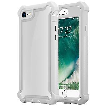 Cadorabo Hülle für Apple iPhone 7 / iPhone 7S / iPhone 8 hülle case cover - 2-in-1 Handyhülle mit TPU Silikon-Rand und Acryl-Glas-Rücken – Schutzhülle Hybrid Hardcase Back Case