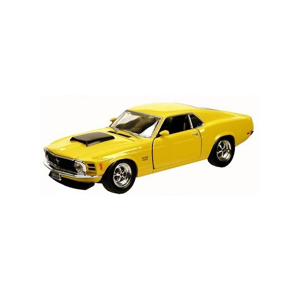 MotorMax American Classics - 1970 Ford Mustang Boss 429 Yellow - 1:24
