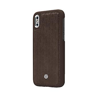Marvêlle iPhone X/Xs Magnetic Case Dark Brown Signature