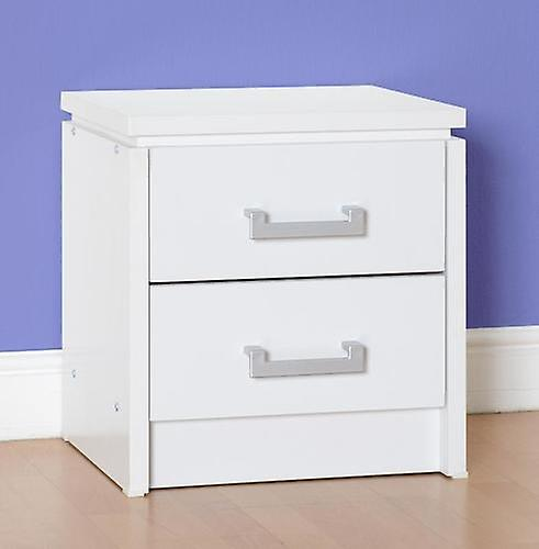 Charles 2 Drawer Bedside Chest - White
