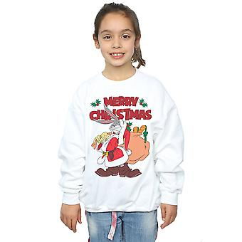 Looney Tunes Girls Santa Bugs Bunny Sweatshirt