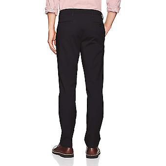 Dockers Men's Slim Tapered Fit Workday Khaki, Black (Stretch), Size 32W x 32L