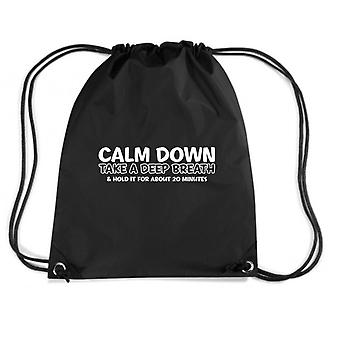 Black backpack trk0150 calm breath